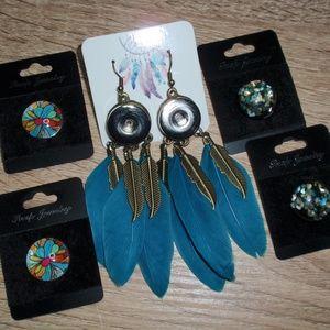 18mm Snap Jewelry Bundle Earrings 4 Snaps